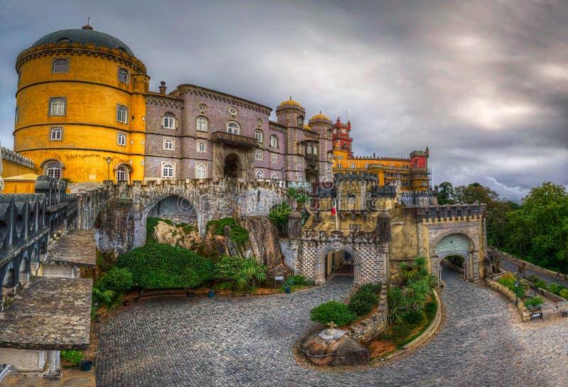 Дворец Pena национальный - стробы стоковая фотография