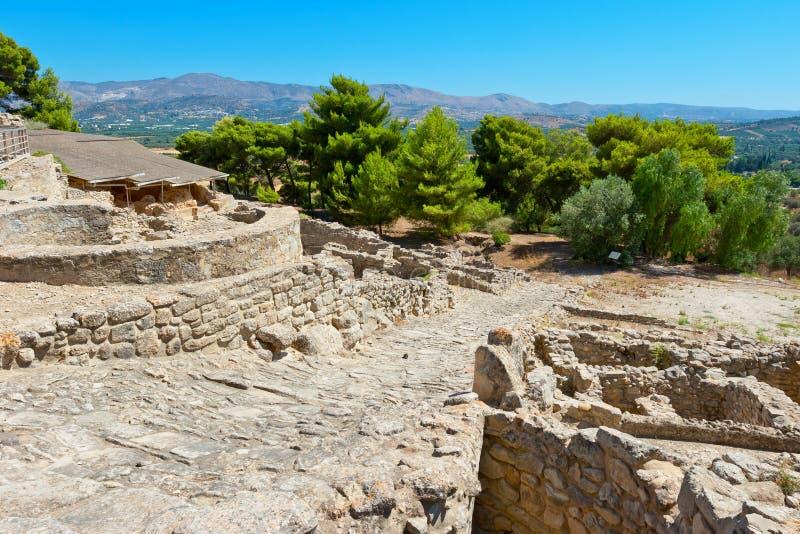 Дворец Phaistos Крит Греция стоковое изображение