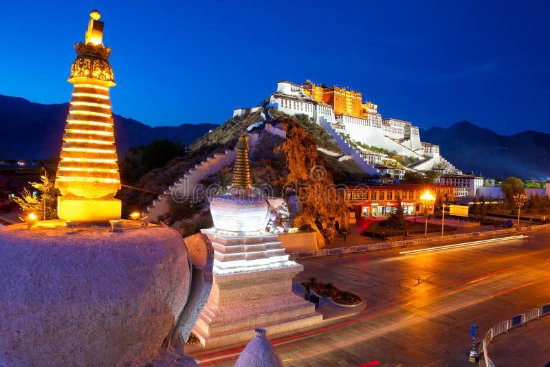 Дворец Potala стоковое изображение rf