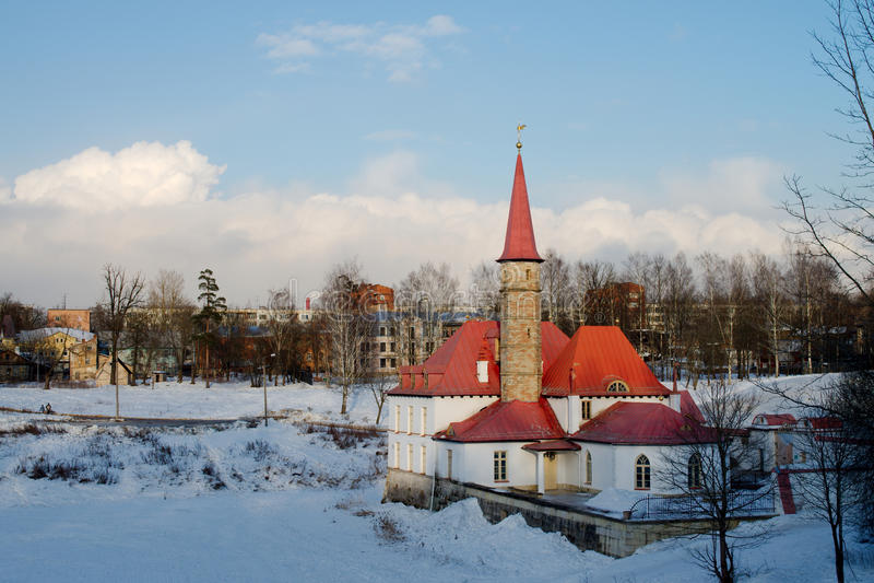Дворец Priorat в Gatchina стоковые изображения rf