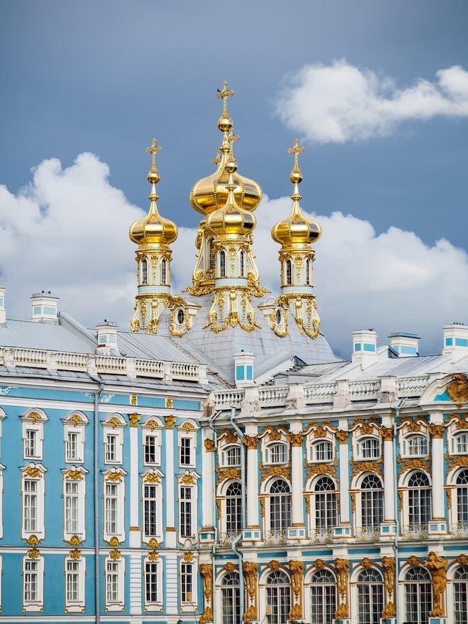 Дворец Pushkin Россия Tsarskoe Selo часовни стоковая фотография