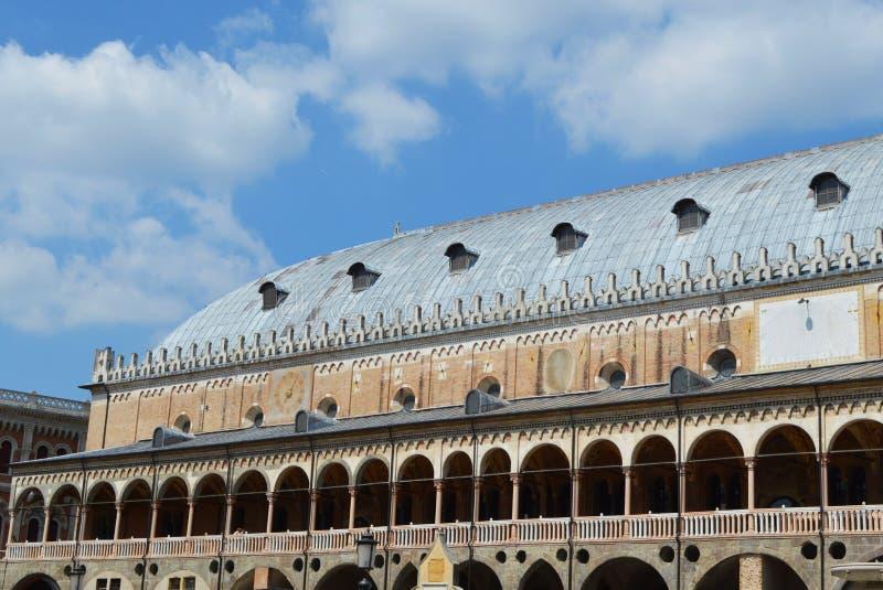 Дворец Ragione в Падуе стоковое изображение rf
