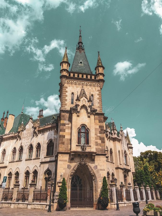 Дворец ` s Jakabov Palac/Jakab стоковое изображение