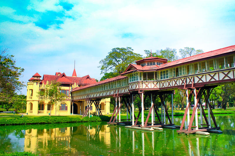Дворец Sanam Chan Таиланда, Nakhon Pathom стоковое изображение rf