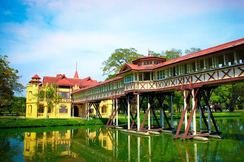 Дворец Sanam Chan Таиланда, Nakhon Pathom стоковые фотографии rf