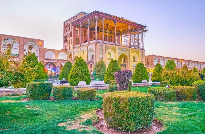 Дворец Shah в Isfahan, Иране стоковые фото