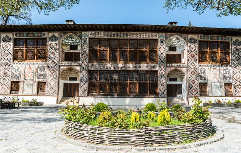 Дворец Sheki Khans в Sheki, Азербайджане стоковая фотография rf