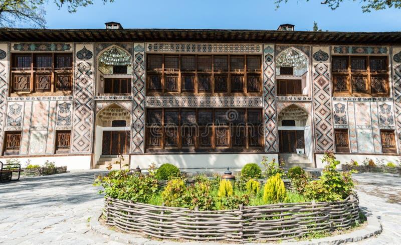 Дворец Sheki Khans в Sheki, Азербайджане стоковые изображения