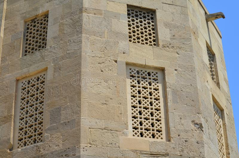 Дворец Shirvanshahs в старом городке Баку, столицы Азербайджана стоковое изображение