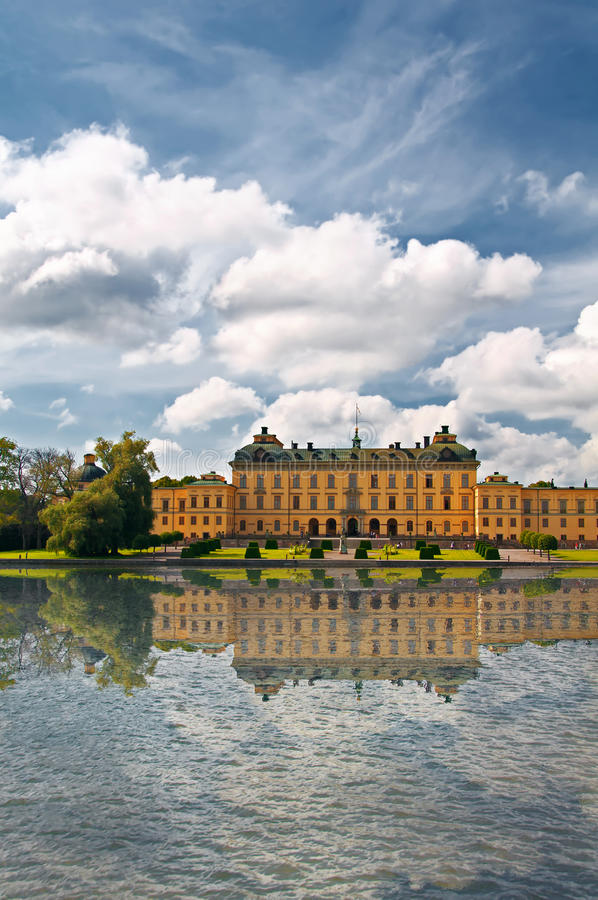 дворец stockholm drottningholm стоковое фото