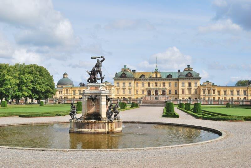 дворец stockholm drottningholm стоковое фото rf
