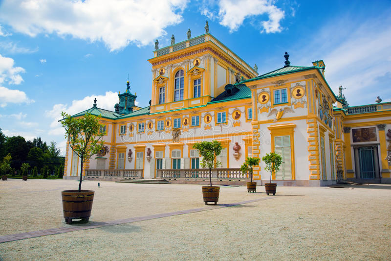 Дворец Wilanow в Варшаве, Польше стоковые изображения