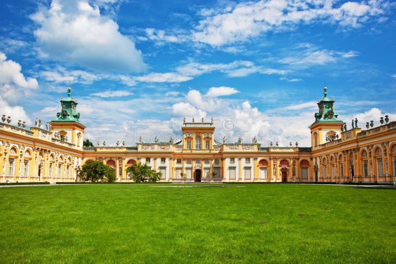 Дворец Wilanow в Варшаве, Польше стоковое изображение
