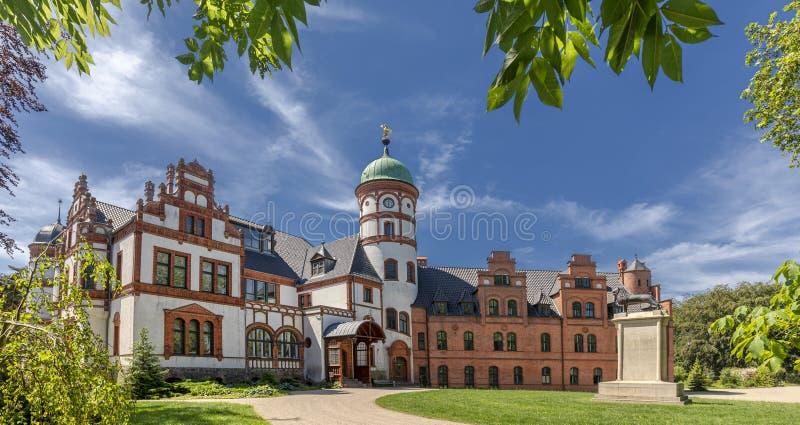 Дворец Wiligrad около Шверина Германии стоковая фотография rf