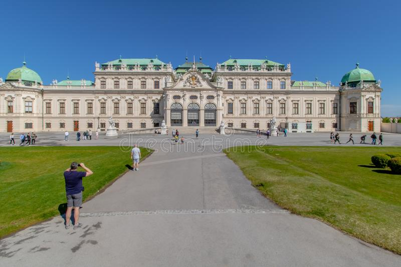 Дворцовый сад Бельведера в Вене, Австрия стоковая фотография rf