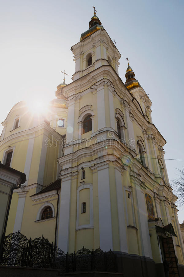 Двор вне церков Vinnitsa стоковое фото rf