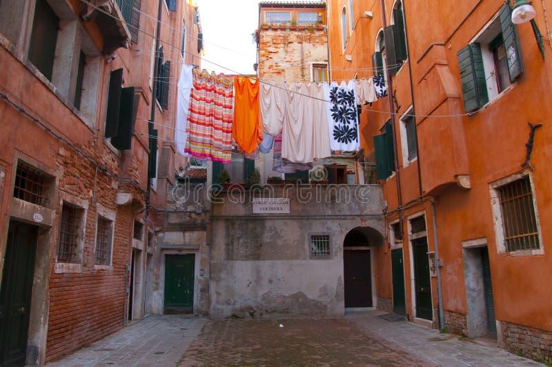 Двор в Венеции стоковая фотография
