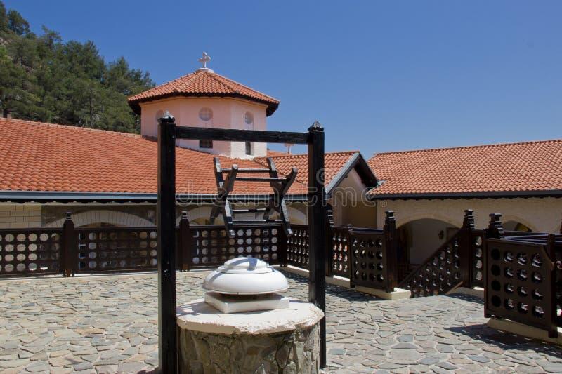Двор в монастыре Kykkos стоковая фотография