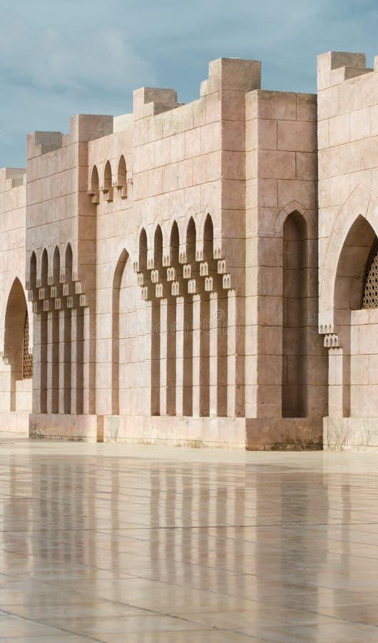 Двор мечети El Mustafa в Sharm El Sheikh Египет стоковое изображение