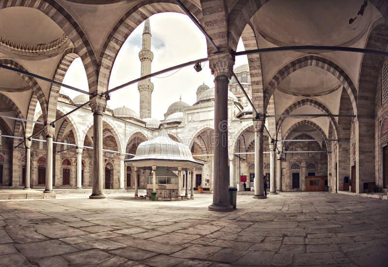 Двор мечети Sehzade стоковые фото