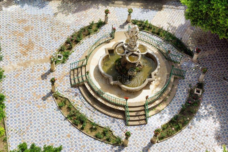Двор монастыря Катрин Святого в Палермо, Италии стоковая фотография rf