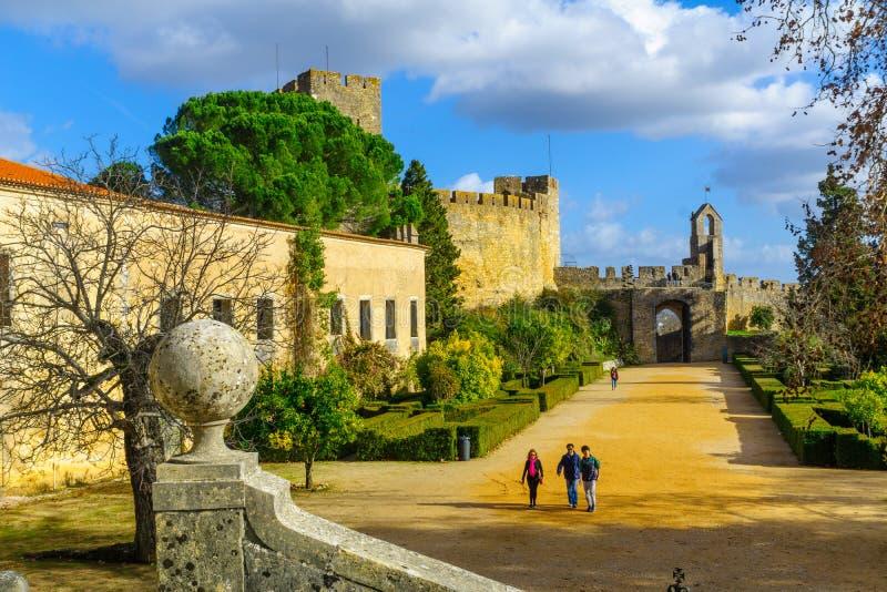 Двор монастыря Христоса, в Tomar стоковая фотография rf