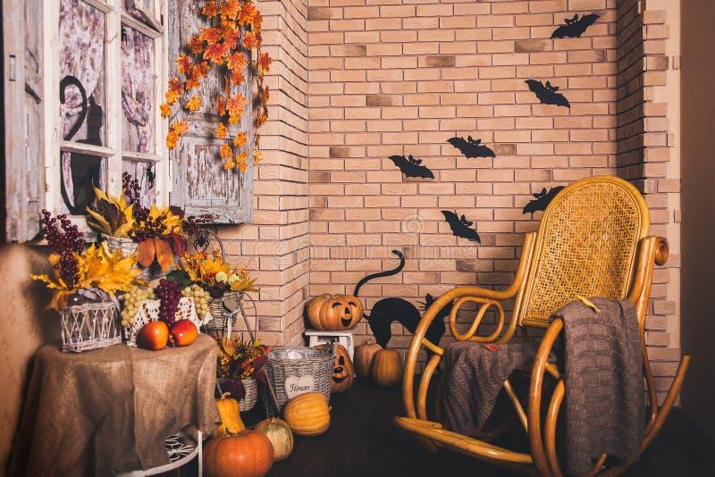 Двор осени хеллоуина halloween стоковое фото rf