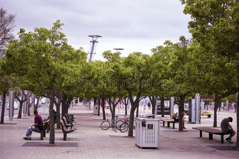 Двор публики железнодорожного вокзала олимпийского парка Сиднея стоковая фотография