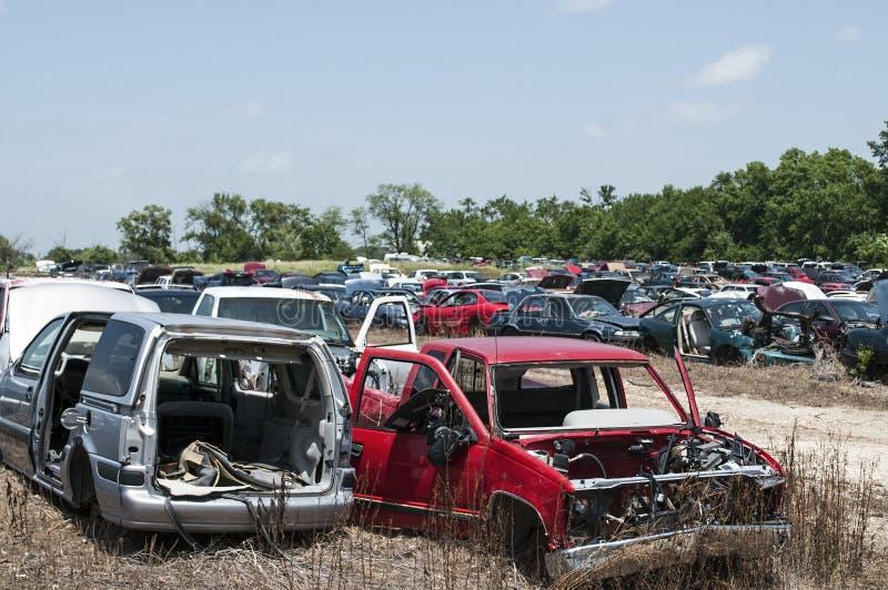 Двор спасения имущества автомобиля стоковые изображения