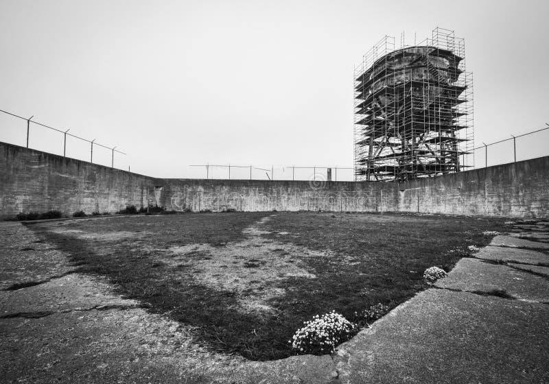 Двор тренировки Alcatraz стоковое фото rf