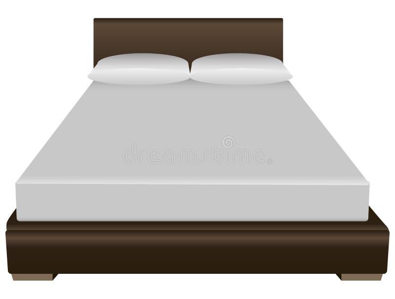 Двуспальная кровать иллюстрация вектора