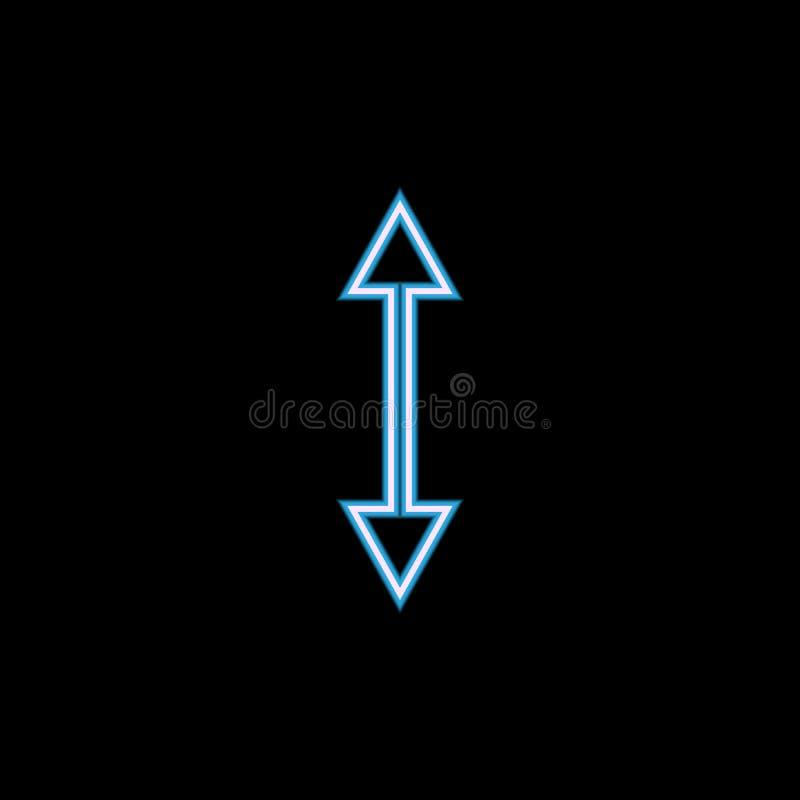 двухсторонний значок стрелки в неоновом стиле Одно значка собрания сети можно использовать для UI, UX иллюстрация вектора