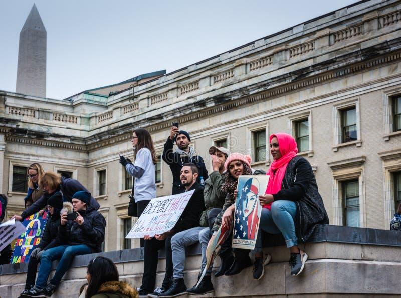 Дебортируйте ненависть - DC в марте - Вашингтоне женщин стоковое изображение rf