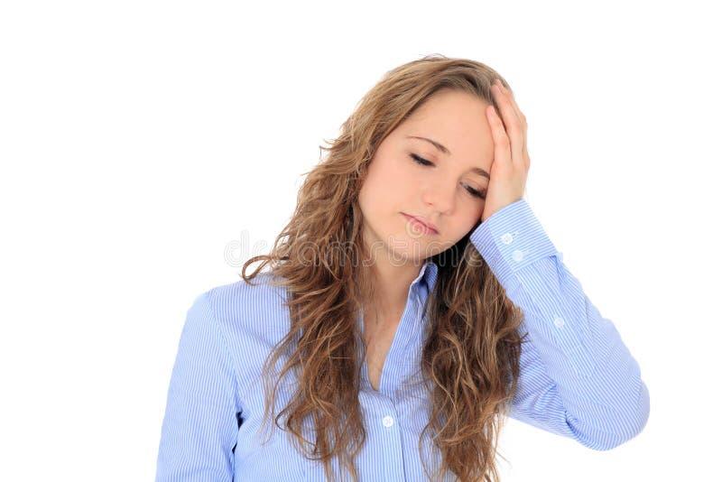 Девочка-подросток чувствует unwell стоковая фотография