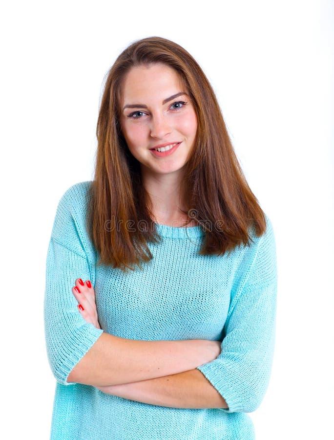 Девочка-подросток в студии стоковая фотография rf
