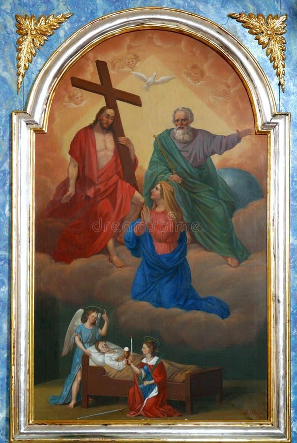 Девственница женится и святая троица стоковое фото rf
