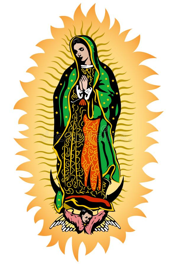 Девственница Guadalupe, иллюстрации вектора цвета Virgen de Guadalupe мексиканца бесплатная иллюстрация