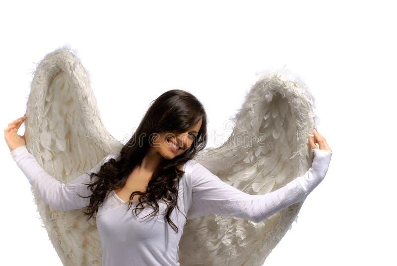 девушка ангела самолюбивая стоковое фото rf