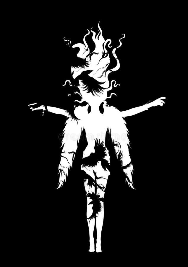 Девушка ангела бесплатная иллюстрация