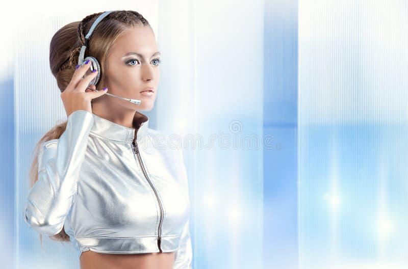 Девушка андроида стоковая фотография rf