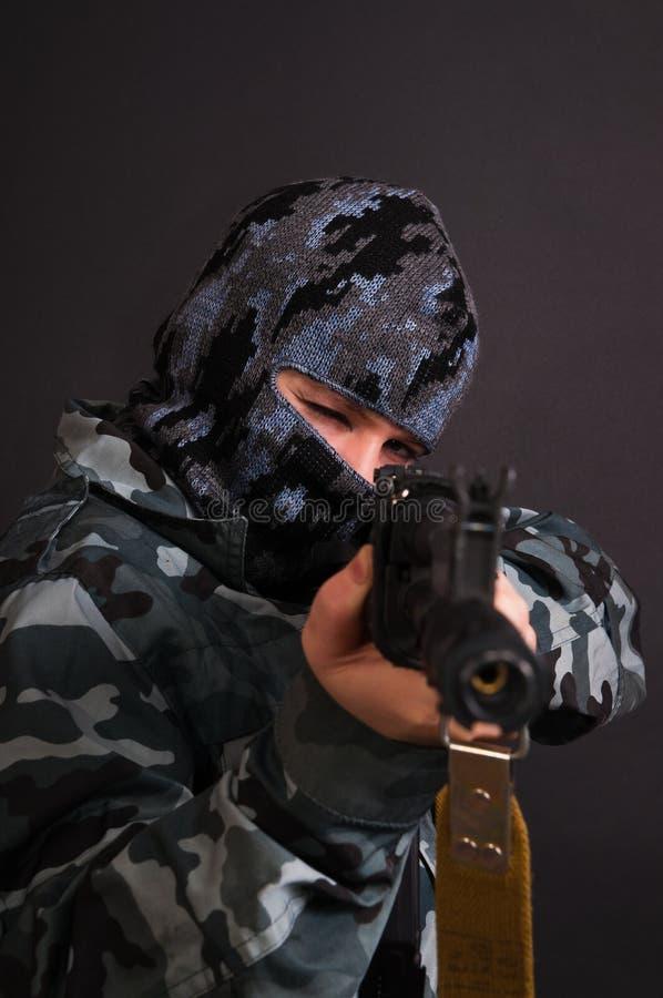 девушка армии стоковая фотография