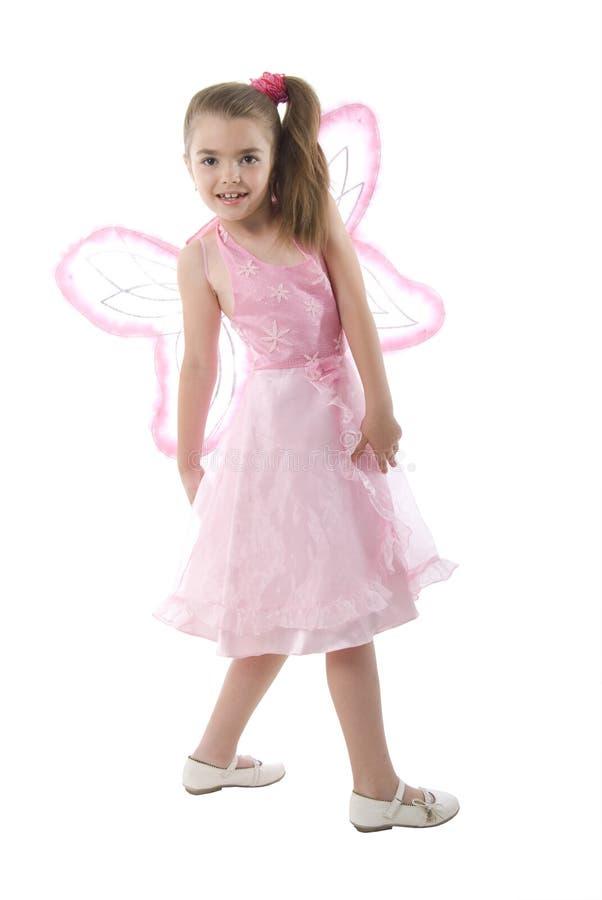 девушка бабочки немногая пинк стоковое фото rf