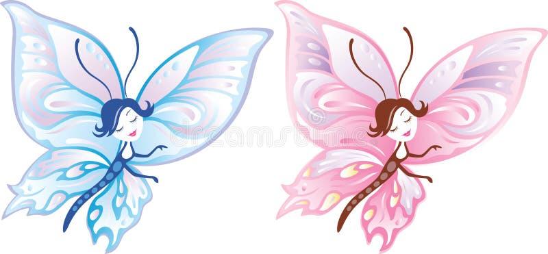 девушка бабочки бесплатная иллюстрация