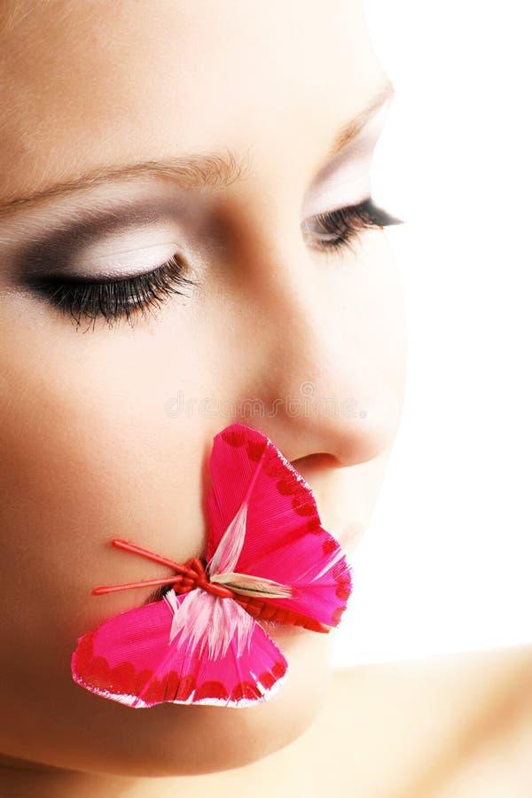 девушка бабочки стоковое фото rf