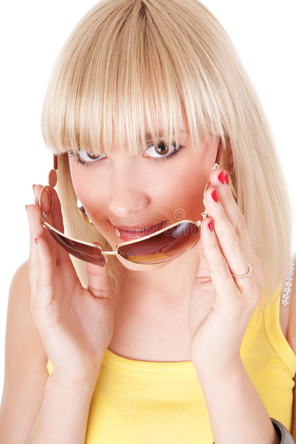 Девушка без солнечных очков стоковая фотография