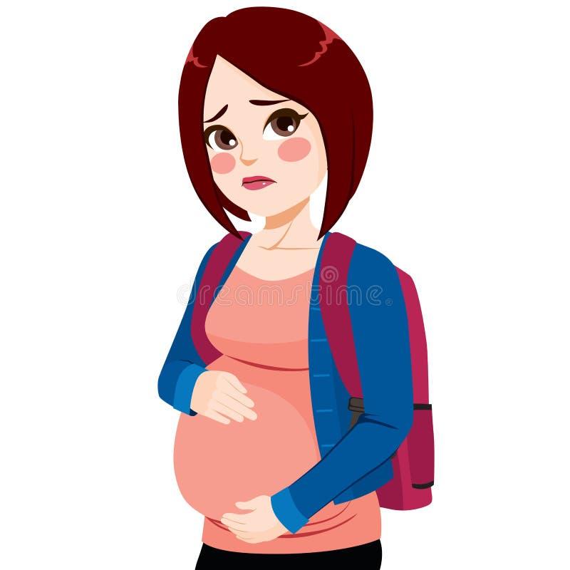 Девушка беременной подростка иллюстрация вектора