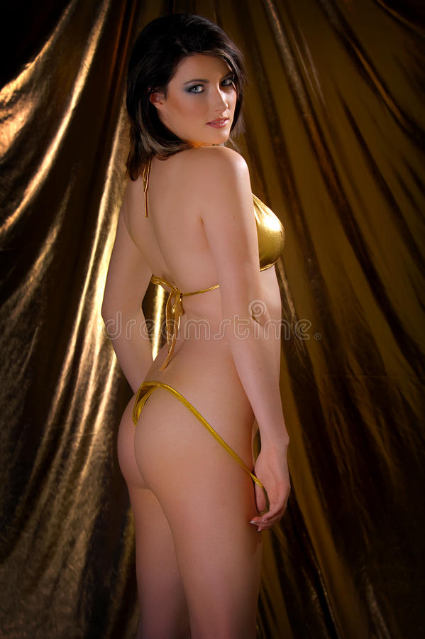 девушка бикини сексуальная стоковое фото