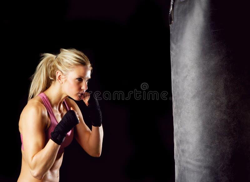 Девушка бокса стоковое изображение rf