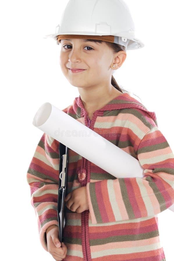 девушка будущего инженера стоковое фото