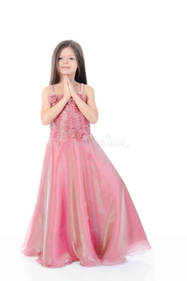 девушка вечера платья немногая стоковые изображения